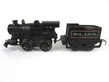 vtg Antique IVES Train Engine Locomotive Coal Car Clockwork Wind-Up Cast Iron