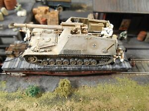 HO Roco Minitanks Artitec 9th Panzer Tank Railway Car Hand Painted #A1241