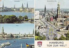 AK Hambourg porte ouverte sur le monde intérieur du panaché, du panaché port, Michel et City il y a 50 ans