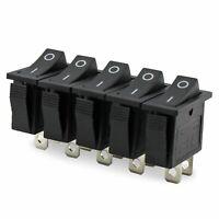 5 Stück Einbau Wippenschalter 1-polig (2pin), 15A 250VAC, 30.9*13.6*21.7mm