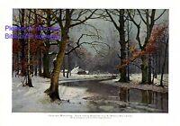 Sonniger Wintertag Kunstdruck 1925 Konrad Müller - Kurzwelly * Chemnitz Winter +