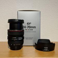 Canon EF 24-70mm f/4 L IS USM Objektiv - wie neu - OVP Rechnung