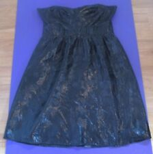 LADIES BLACK STRAPLESS DRESS SIZE 10 by COOPER ST