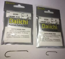 Daiichi Streamer Fishing Hooks for Fly Tying Size 2 and 8 Style 2220 QTY: 18, 17