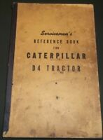CAT CATERPILLAR D4 CRAWLER TRACTOR DOZER SERVICE SHOP REPAIR WORKSHOP MANUAL