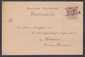 Germany Mi P10 used 1882 5pf Postal Card, 3-Line Railway Cancel, to Hildesheim