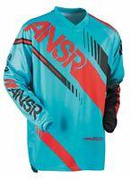 ANSR Syncron Jersey Cyan/Red Motocross Mx Enduro Quad Off Road