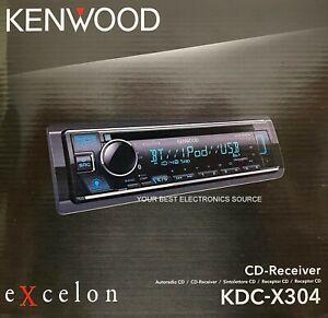 NEW Kenwood KDC-X304 1-DIN Car Audio Stereo Receiver, CD/AM/FM w/ Bluetooth