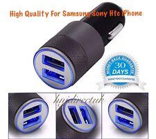 2 IN 1 UNIVERSAL LED USB 12-24V DUAL CAR CHARGER CIGARETTE SOCKET LIGHTER BLACK
