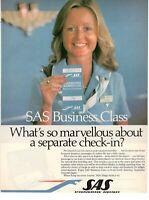 1980 Original Advertising' SAS Scandinavian Airlines System Company Aerial Class