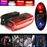 4 modes USB Rechargeable COB LED Bicycle Bike Cycling Front Rear Tail Light Lamp