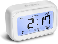 Digital Alarm Clock LED Digital Clocks for Bedrooms Silent Clocks w/ Snooze Time