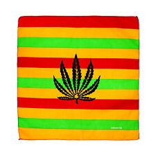 Red, Orange & Green Stripe Marijuana Weed Pot Leaf Stoner Cotton Bandana
