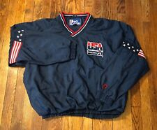 Vintage USA Basketball Dream Team Mens Large Olympic Blue Pullover Jacket