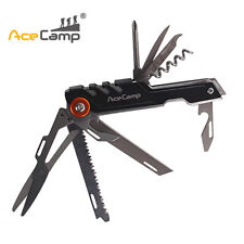 AceCamp 11 in 1 Multi Tool Lightweight Smooth Folding Pocket Knife Outdoor Swis