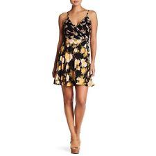 Angie Floral Print Double Strap Surplice Wrap Dress Cross Back Size Large F/24