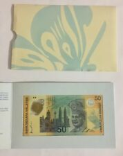 Malaysia 1998 50 Ringgit Commemorative Commonwealth Games Polymer Note In Folder