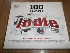 "VARIOUS "" 100 HITS INDIE "" 5XCD ALBUM 2009"