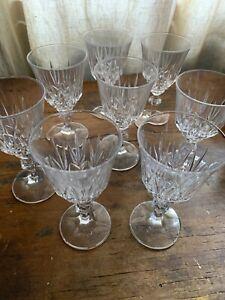 Vintage Crystal Glasses x 8