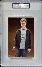 DANIEL RADCLIFFE Signed Rare Slabbed 4x6 Harry Potter Color Photo Auto PSA/DNA