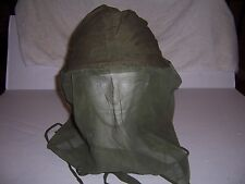 Snipers OD helmet & face cover head or mosquito net genuine U.S. vietnam war