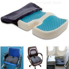 Coccyx Orthopedic Gel Foam Seat Cushion Enhanced Comfort Chair Pad Back Support