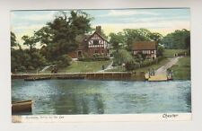Cheshire postcard - Eccleston Ferry on the Dee, Chester