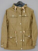 Women Levis Jacket Beige Urban Hooded Cotton Breathable Casual M UK12 ZNA162