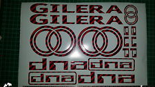 Gilera DNA Decals/Stickers EXCLUSIVE RED CARBON DESIGN 50 70 125 172 180 210