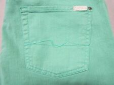 SEVEN 7 FOR ALL MANKIND MENS THE STANDARD GREEN COLORED DENIM JEANS SIZE 36 NEW