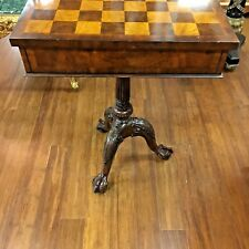 Antique Style Game Table Chess/Backgamon