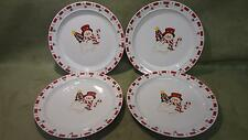 Lot of Four Christmas Dinner Plates ceramic china home food cookware Holiday