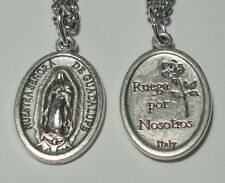 Nuestra Senora de Guadalupe Holy Medal on Chain Pray for Life & World Peace