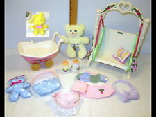 Vintage Fisher Price Briarberry Swing/Stroller Buggy/Pillow/Teddy Bear/Clothes