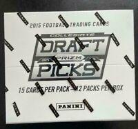 2015 Panini Prizm Collegiate Draft Picks NFL Cards Football Fat Pack SEALED