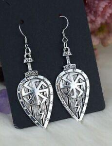 Celtic Shield Earrings Viking Pagan Norse Drop Ear rings