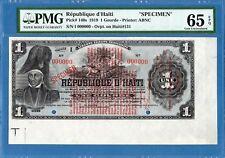 Haiti, 1 Gourde, 000000 specimen, 1919, Gem UNC-PMG65EPQ, P140s
