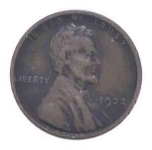 Semi Key 1922-D VF/XF Lincoln Wheat Cent - Sharp *555