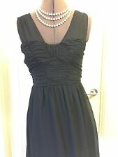 Target Size 8 Little Black Dress Gathered Bodice Mini Cocktail Dress Free Fusion