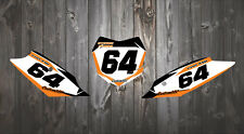 KTM 02-18 SX SXF EXC BACKGROUNDS NUMBERS GRAPHICS 85 125 150 250 300 350 450