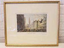 The Eyer Merkt Antwerp Engraved Print By Cap Batty & Tho Higham
