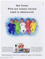 PUBLICITE ADVERTISING 105  1993  SKIP COLOR    lessive  pour vetements bébé