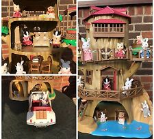 Sylvanian families Old Hollow Oak Treehouse furniture, Calico Critters figures