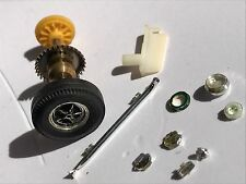 VINTAGE SCALEXTRIC SPARES.  CK/1 AC COBRA KIT CAR EXHAUST, GUIDE, WHEELS ETC.