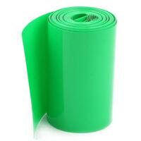 5M 70mm Green PVC Heat Shrink Tubing Wrap Cover for 4 x 18650 Battery J9L2