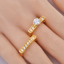 14k yellow gold filled mens rings womens hollow out ring set ring size 7