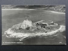 Cornwall: Aerial View of St. Michael's Mount c1957 RP Postcard by Aero Pictorial