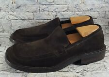 Via Spiga Men's Slip-On Brown Suede Dress Casual Loafers Shoes Size 10.5 ITALY