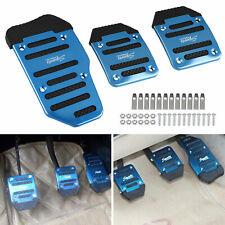 3Pcs Blue Universal Pedals Pad Cover Car Interior Decor Car Accessories Durable