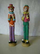 Circus Clowns, Set of 2, Tall and Skinny, Resin